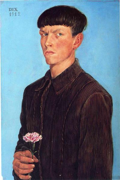Self-Portrait, 1912 - Otto Dix