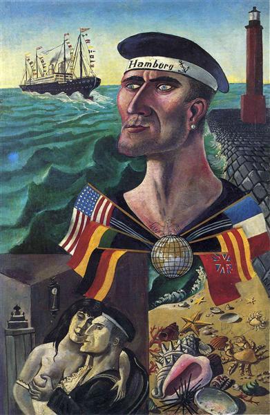 The Goodbye to Hamburg - Otto Dix