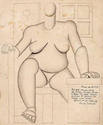 Sitting cubist woman - Otto Gustav Carlsund