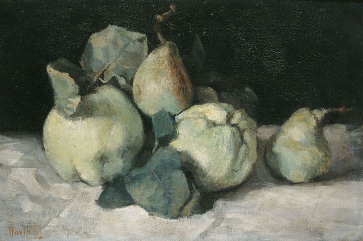 Still life with quinces, 1880 - Pericles Pantazis