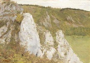 The cliffs at the Lesse, 1878 - Pericles Pantazis