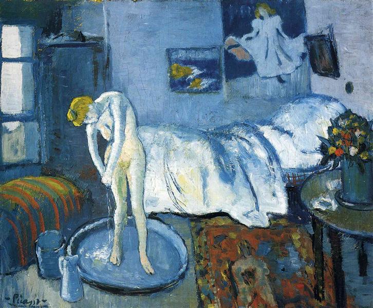 A blue room (A tub), 1901 - Pablo Picasso