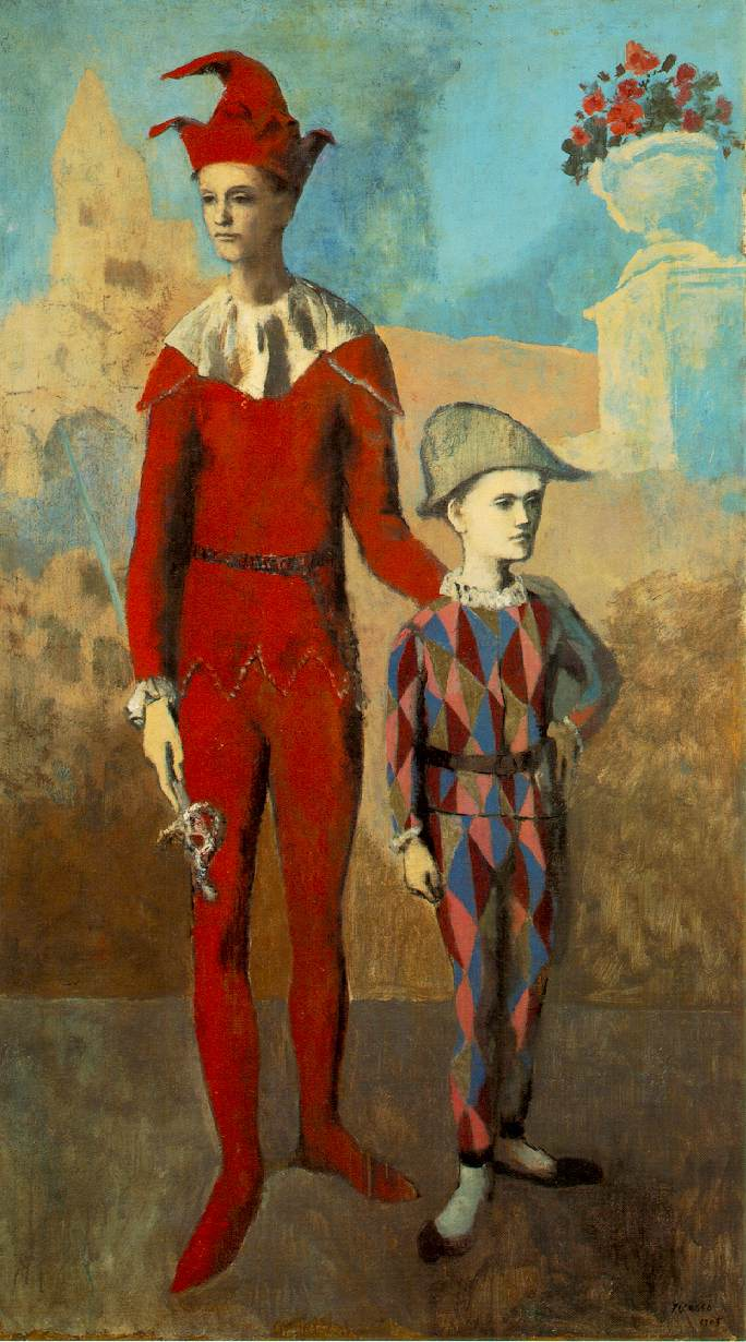 Pablo Picasso Rose Period Painting Acrobat and Young Harlequin, 1905