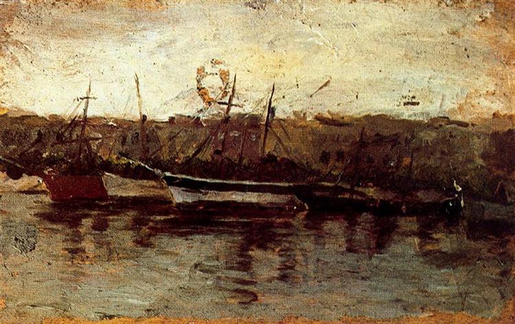 Alicante, view of boats, c.1895 - Pablo Picasso