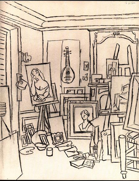 Artist's studio on street La Boetie, 1920 - Пабло Пікассо
