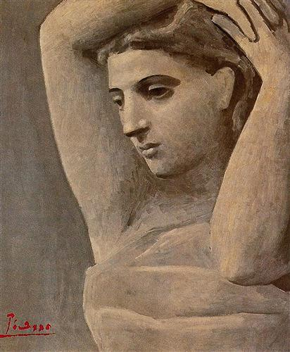 Bust of a woman, arms raised - Pablo Picasso