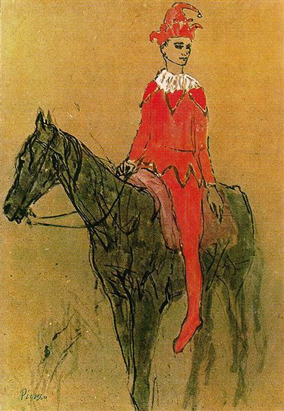 Harlequin on the horseback, 1905 - Pablo Picasso