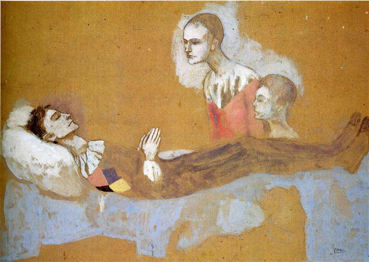 Harlequin's death, 1906 - Pablo Picasso