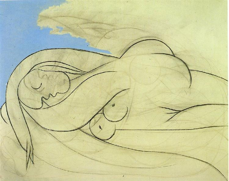 Line Drawing Female : Lying female nude pablo picasso wikiart