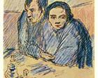 Man and woman in café (study) - Pablo Picasso