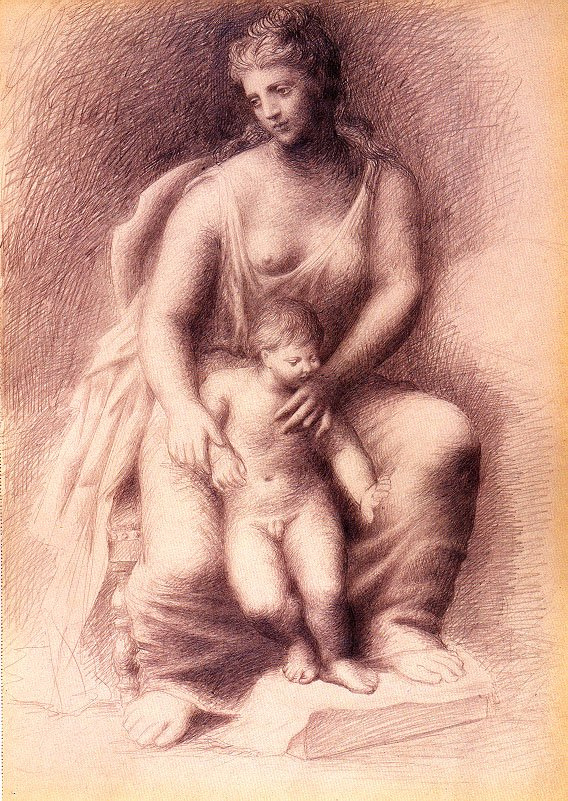 Mother and child, 1922
