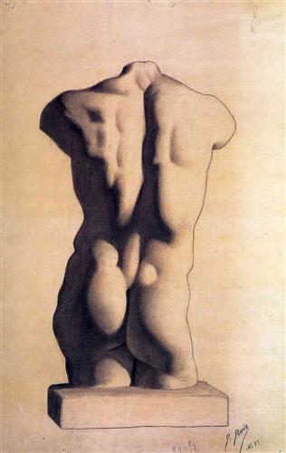 Plaster male torso - Pablo Picasso
