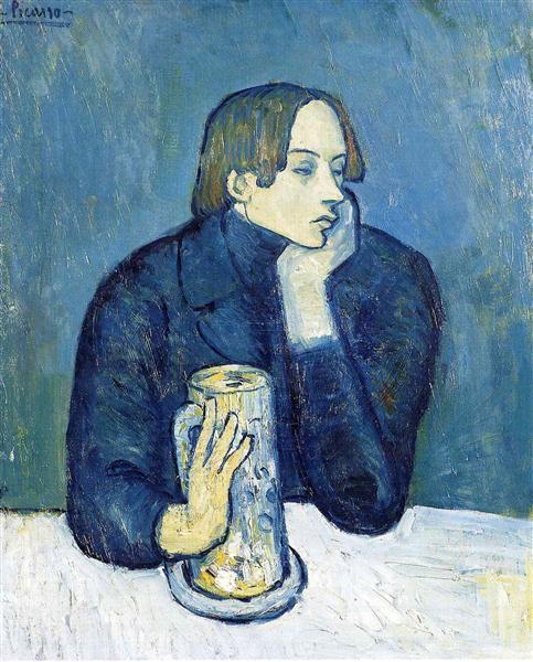 Portrait of Jaime Sabartes (The bock), 1901 - Pablo Picasso