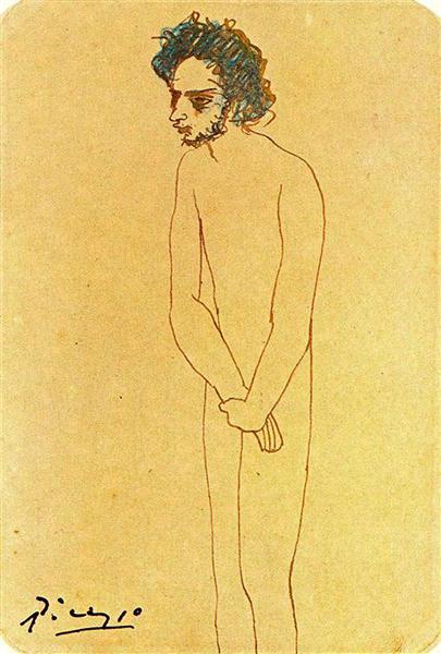 Portrait of nude Casagemas, 1904 - Pablo Picasso