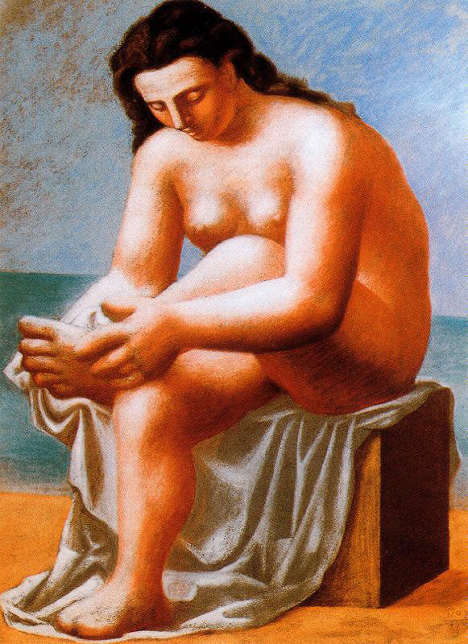 Seated Nude drying her feet, 1921