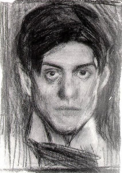 Self-Portrait, c.1900 - Pablo Picasso