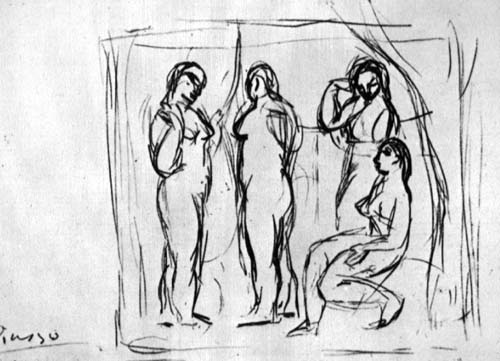 Study To Girls From Avignon 1906 Pablo Picasso Wikiart Org