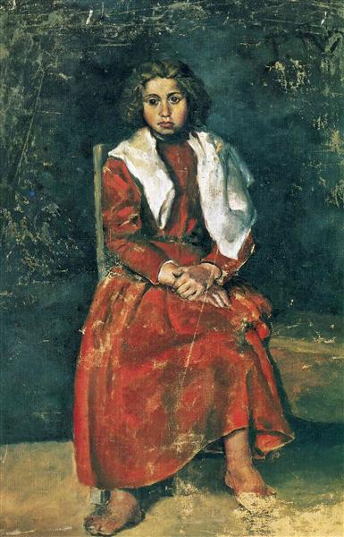 The barefoot girl, 1895 - Pablo Picasso