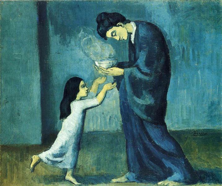 The soup, 1903 - Pablo Picasso