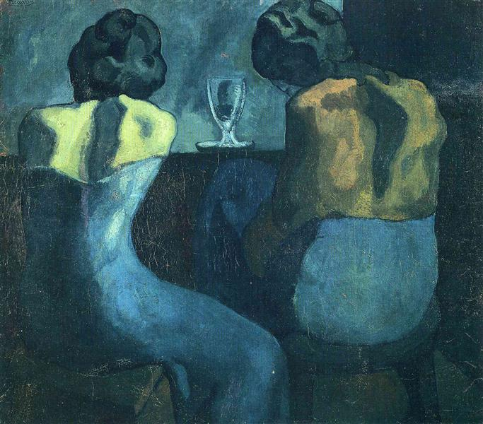 Two women sitting at a bar, 1902 - Pablo Picasso