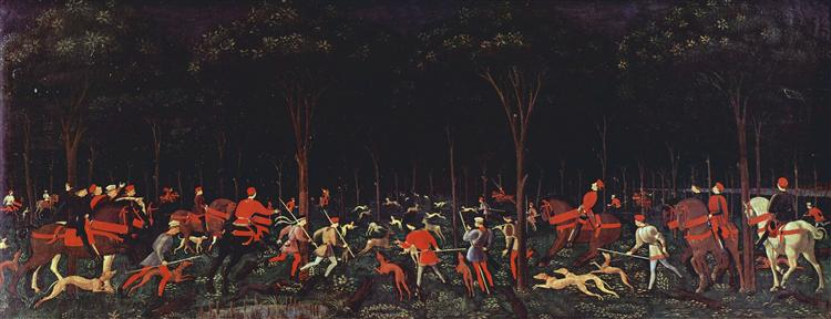 The Hunt in the Forest - Paolo Uccello