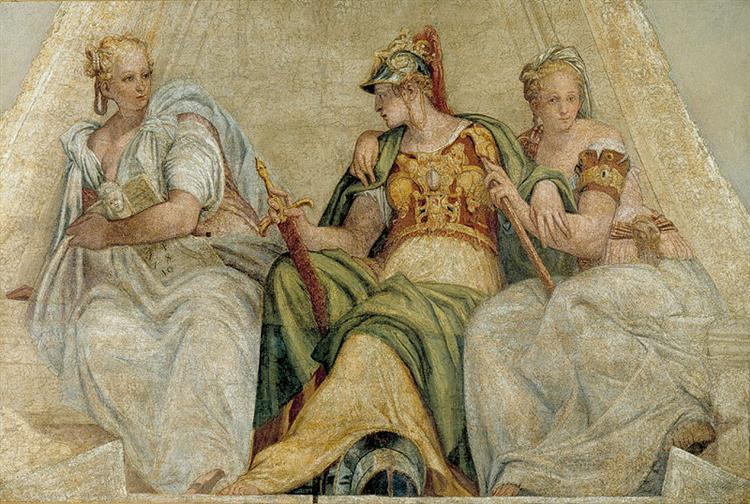 Minerva between the Geometry and Arithmetic, 1551 - Paolo Veronese