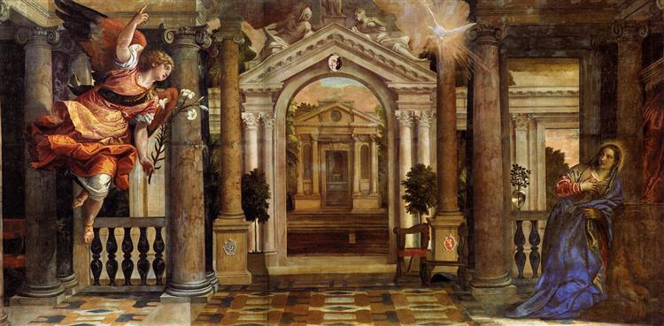 The Annunciation - Veronese Paolo
