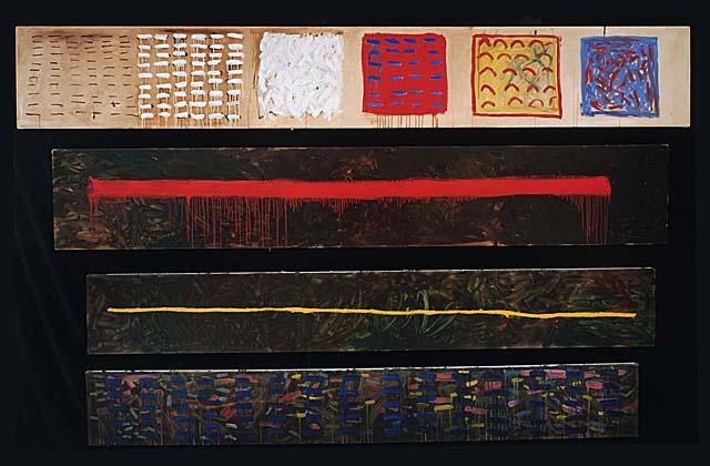 Long Chart, Large Chart, 1978 - Pat Steir