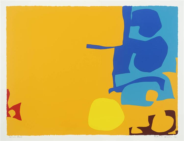 Blues Dovetailed in Yellow, 1970 - Patrick Heron