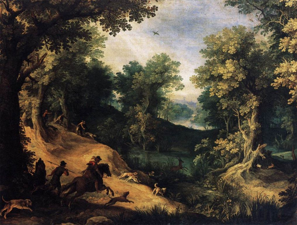 The Stag Hunt, 1595