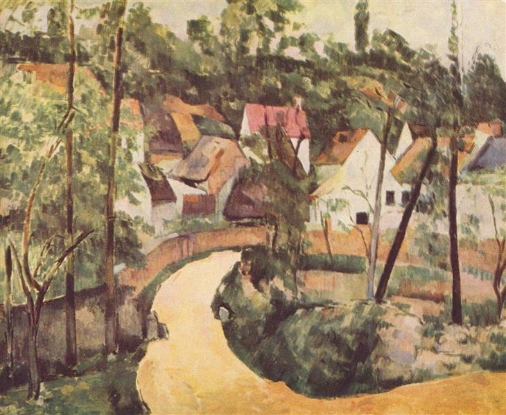 A Turn in the Road, 1882 - Paul Cezanne