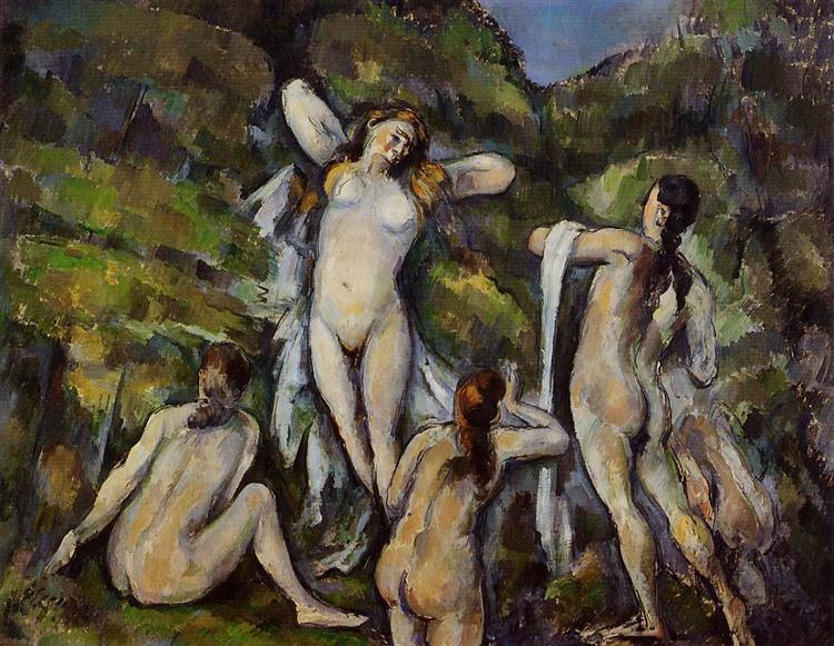 Four Bathers, c.1890 - Paul Cezanne