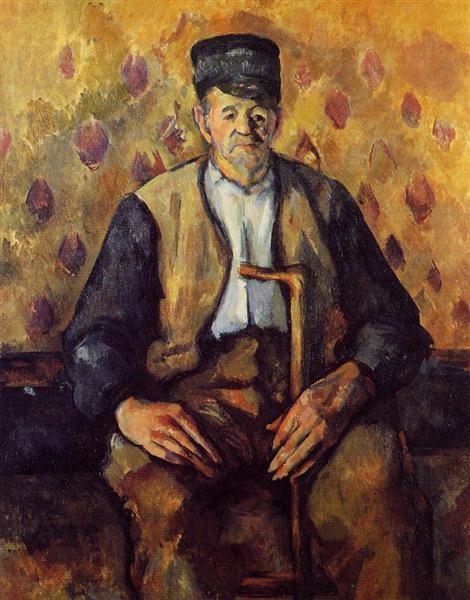 Seated Peasant, c.1904 - Paul Cezanne