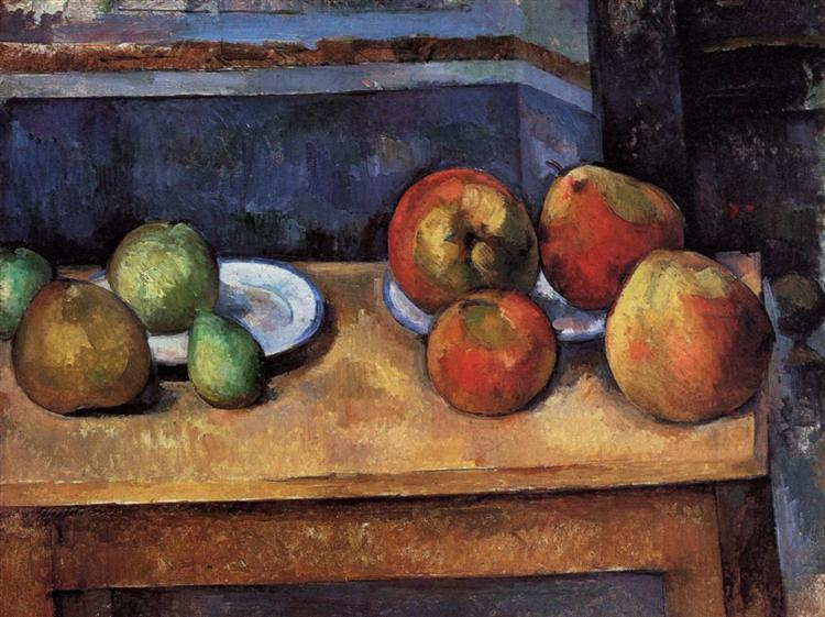 Still Life Apples and Pears, 1887 - Paul Cezanne
