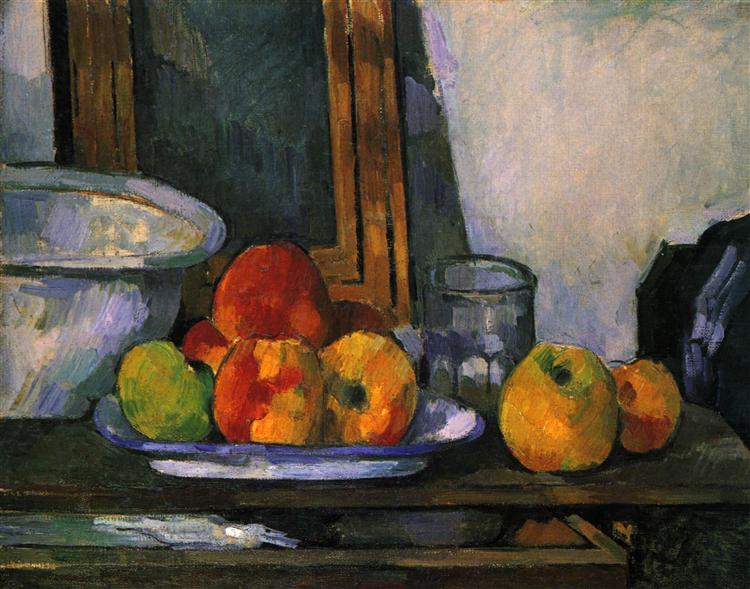 Still life with open drawer, 1879 - Paul Cezanne