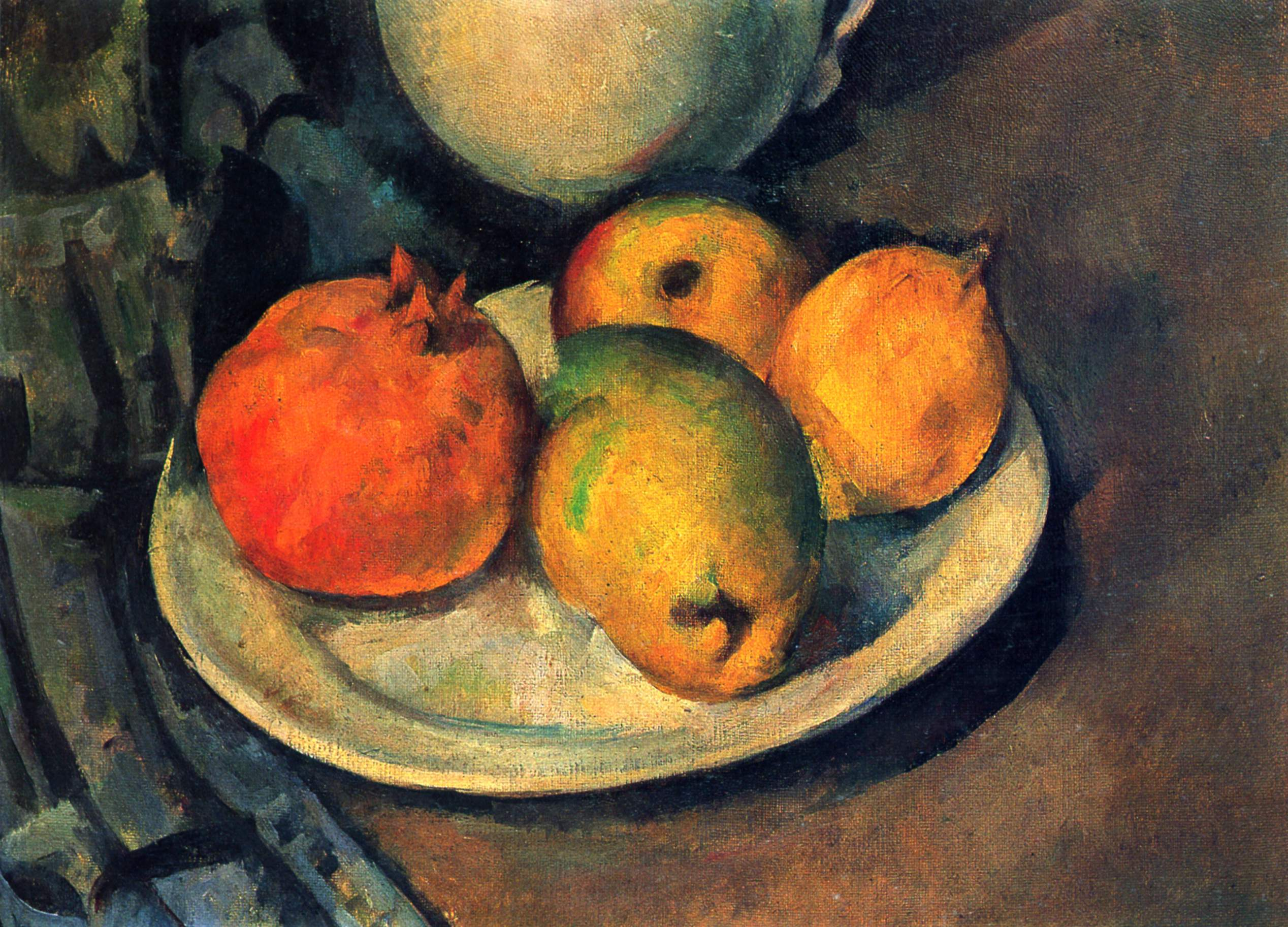Still Life with Pomegranate and Pears, 1890 - Paul Cezanne ...