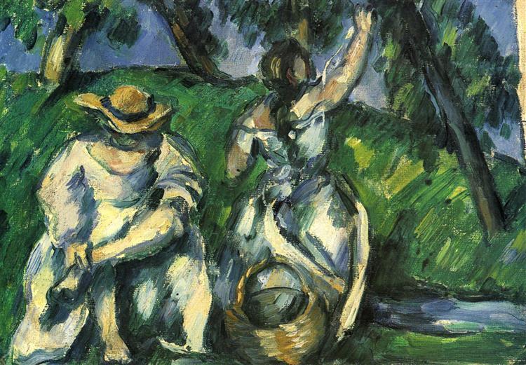 The Obstpfluckerin, 1877 - Paul Cezanne