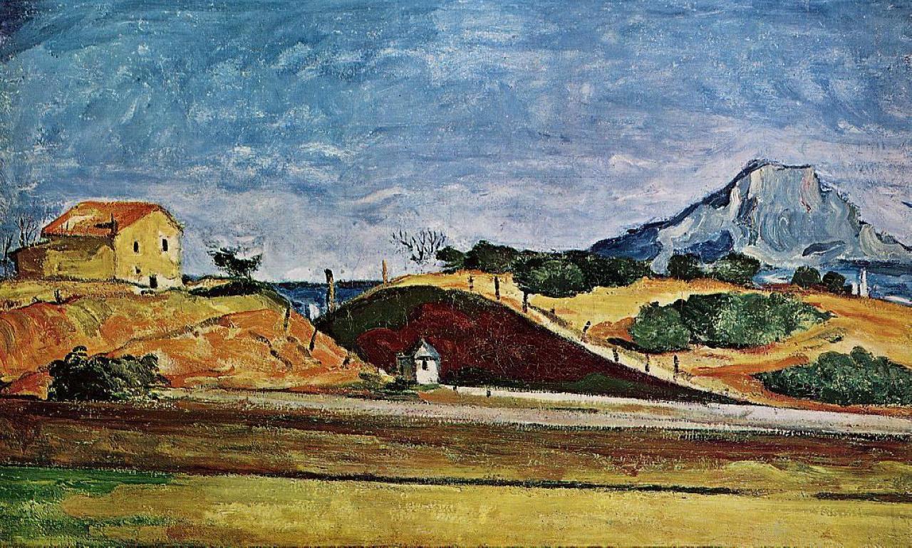 The Railway Cutting 1870 Paul Cezanne Wikiart Org