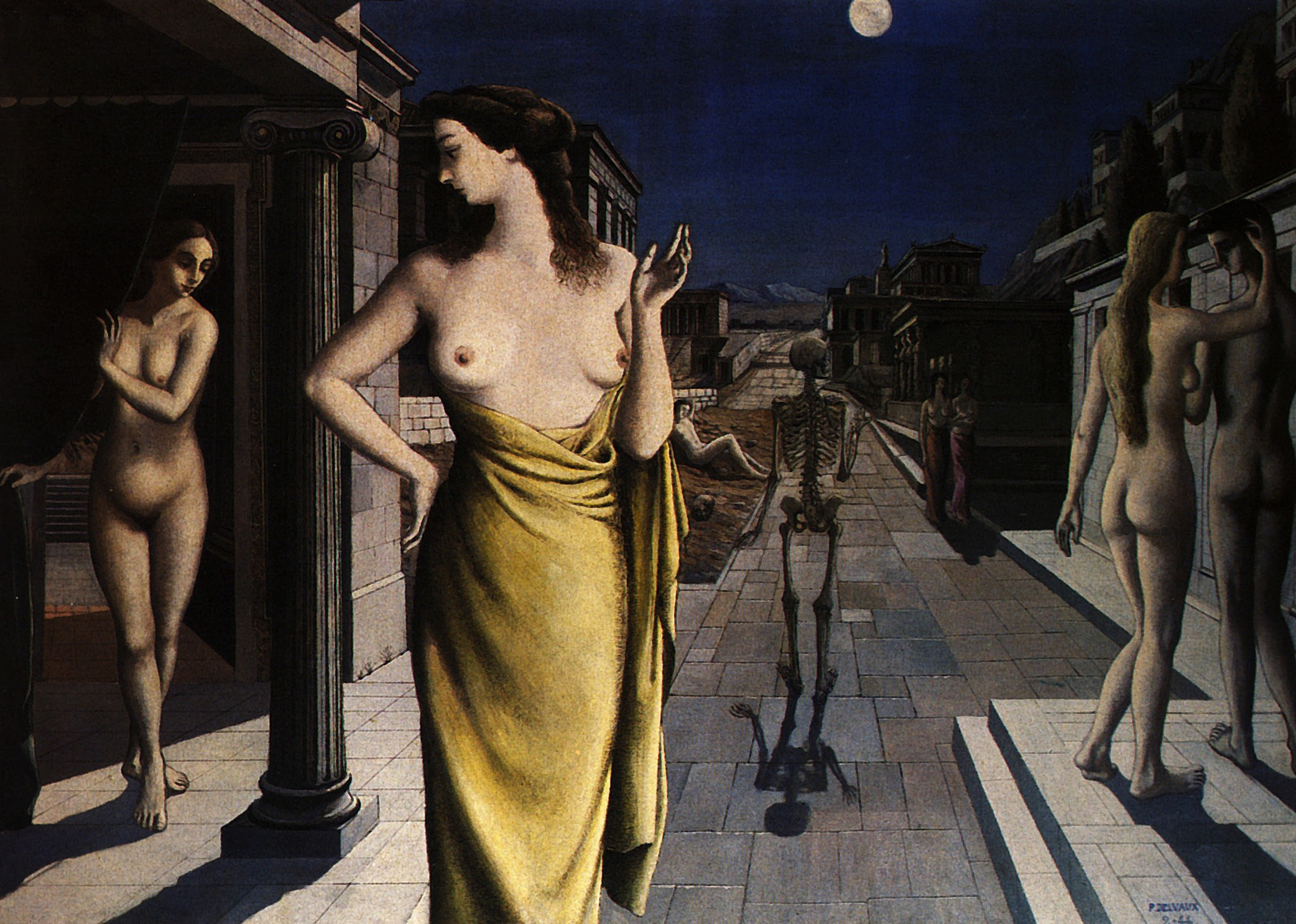 Paul Delvaux Gallery Lunar City Paul Delvaux