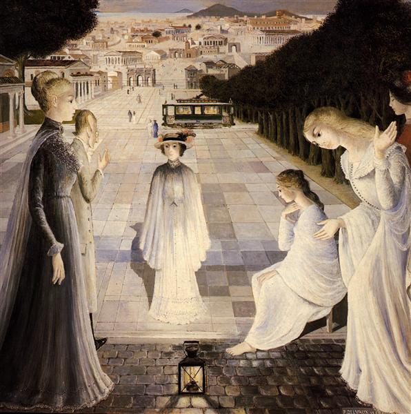 Messaging, 1980 - Paul Delvaux