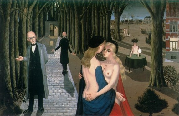 The girls from the provinces, 1962 - Paul Delvaux