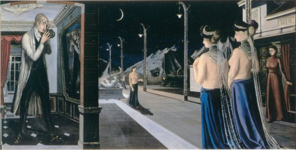 The street at night, 1947 - Paul Delvaux