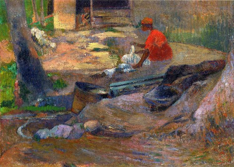 A little washerman, 1887 - Paul Gauguin