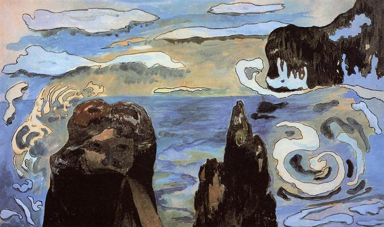 At the black rocks - Gauguin Paul