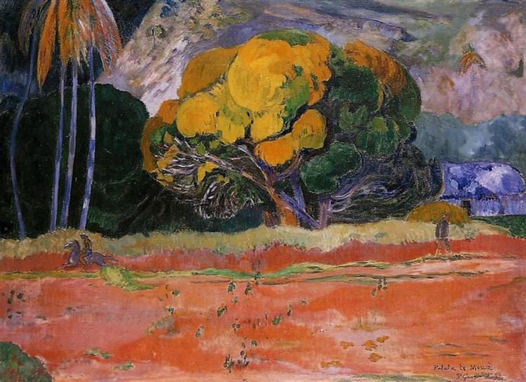 At the Foot of the Mountain, 1892 - Paul Gauguin