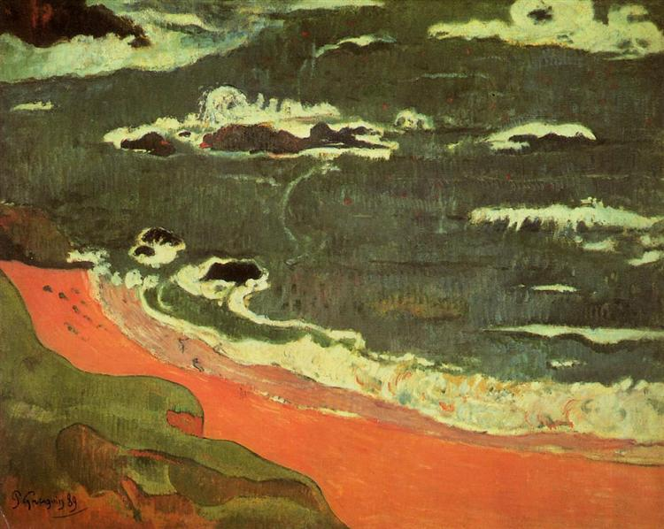 Beach at Le Pouldu, 1889 - Paul Gauguin