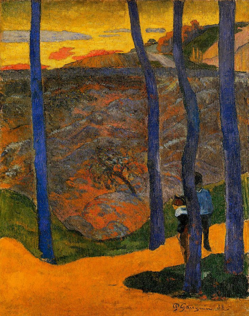Blue trees 1888 paul gauguin for Jardin secret des hansen