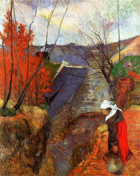 Breton Woman with a Pitcher, 1888 - Paul Gauguin