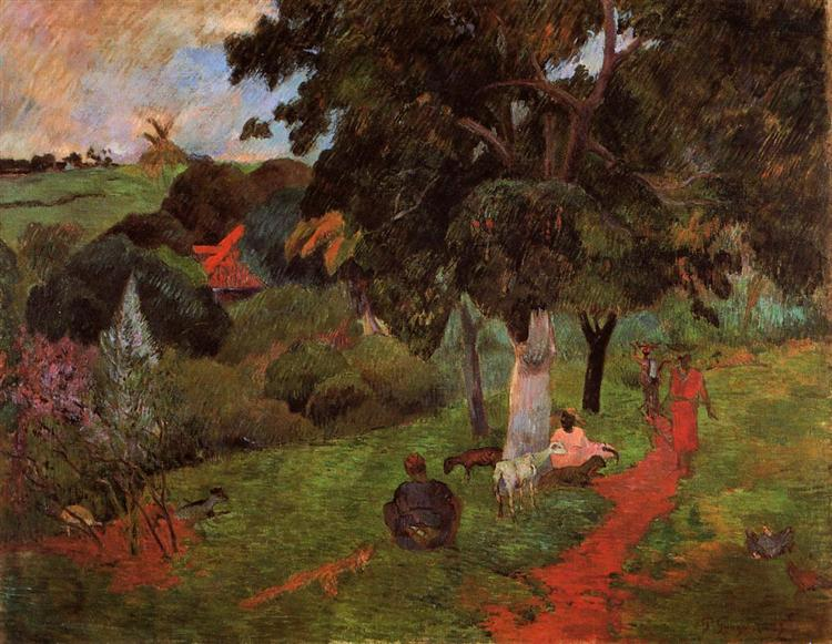 Coming and going, Martinique, 1897 - Paul Gauguin