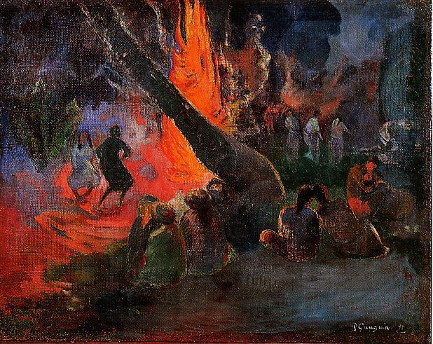 Fire Dance, 1891 - Paul Gauguin